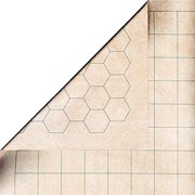 "Chessex Battlemat - RPG Reversible Vinyl Mat 26"" x 23.5"" with 1"" Squares/Hexes #96246"