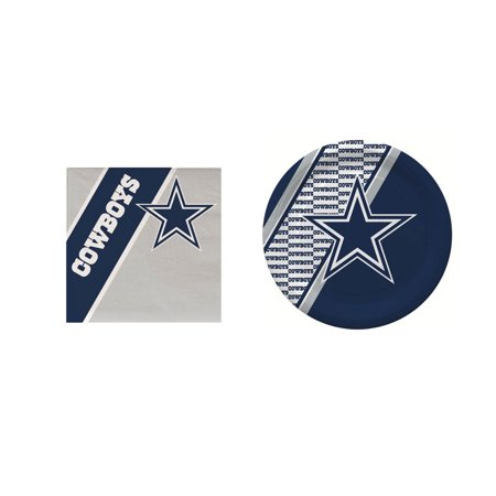 Dallas Cowboys 20 Pc Disposable Paper Plates And 20 Pc Disposable