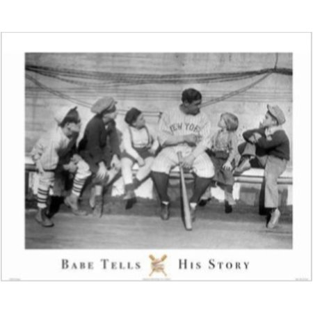 Signed 16x20 Hall Of Fame - Babe Tells His Story 16x20 Art Print Poster Babe Ruth New York Yankee Picture Outfielder Boston Red SoxWorld Series Major League Baseball Hall of Fame