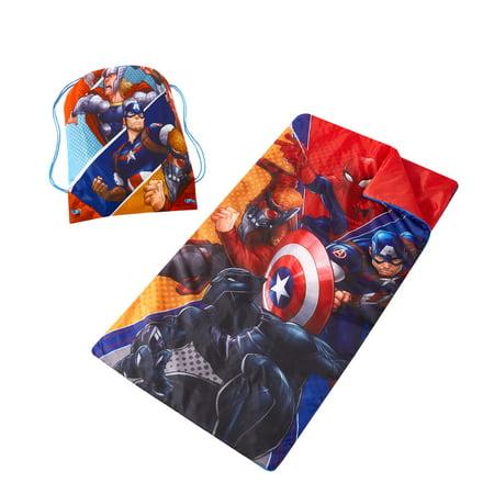 Marvel Avengers Sleeping Bag with Bonus Sling Bag