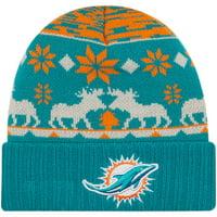 Miami Dolphins New Era Mooser Cuffed Knit Hat - Aqua - OSFA