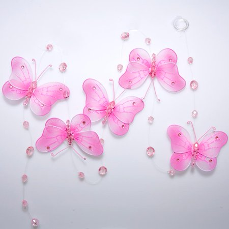 Pink Butterfly Danglers