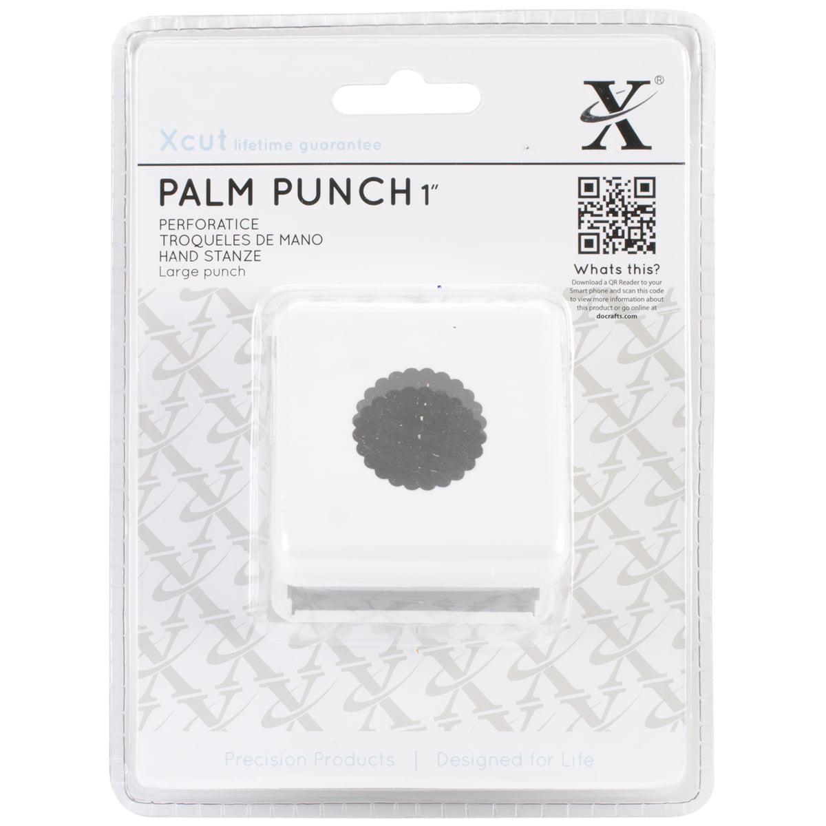 """Xcut Large Palm Punch-Scallop Circle, 1"""""""