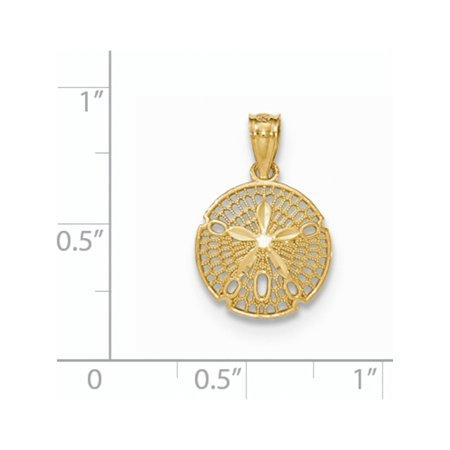 14k Yellow Gold  Polished Filigree Sand Dollar Pendant / Charm - image 1 of 2