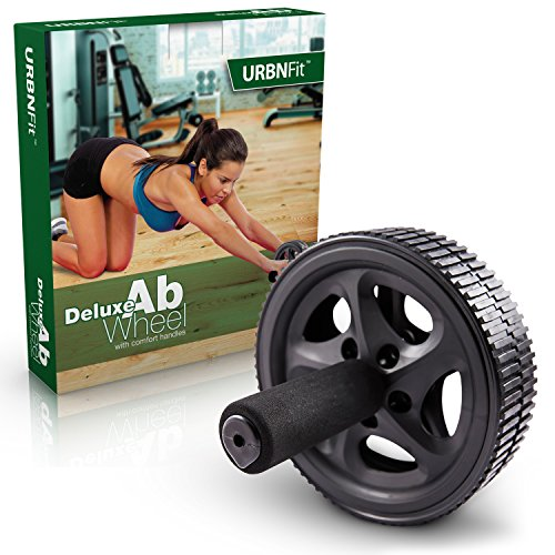 URBNFit Ab Roller Deluxe - Abdominal Exercise Toning Wheel - Get 6 Pack Abs