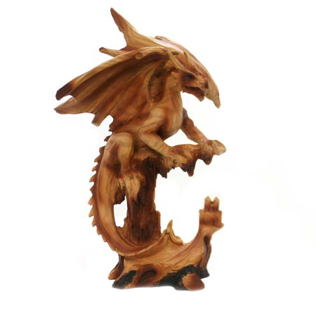 Animal WOOKLIKE DRAGON Polyresin Carving Mythical Mmf305 (Mythical Animals)