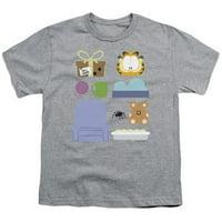 Garfield-Gift Set Short Sleeve Youth 18-1 Tee, Athletic Heather - XL