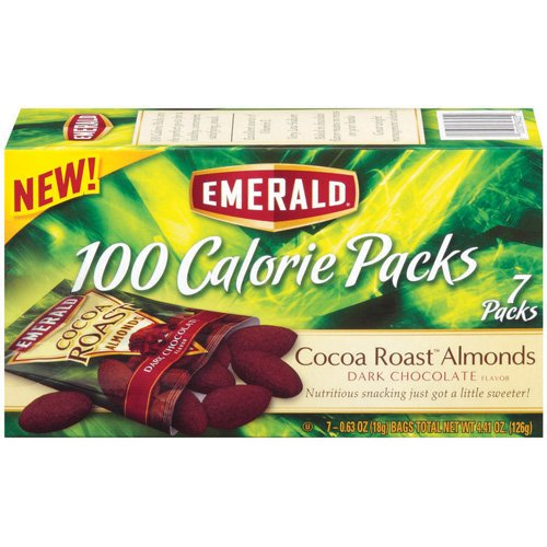 Emerald Dark Chocolate Cocoa Roast Almonds 100 Calorie Packs, 7ct