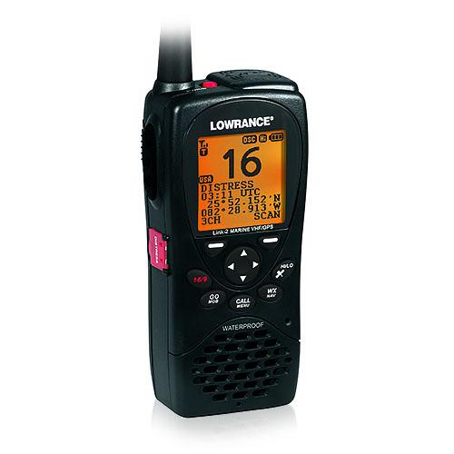 Lowrance 000-10782-001 GPS Receiver Link-2 VHF/GPS Handheld Marine Radio New