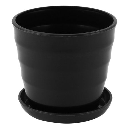 - Unique Bargains Flower Pot Holder 9cm Dia Plastic Stripe Pattern Home Garden Office Plant Planter