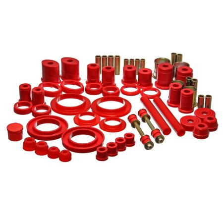 Energy Suspension 99-04 Ford Mustang Red Hyper-flex Master Bushing Set