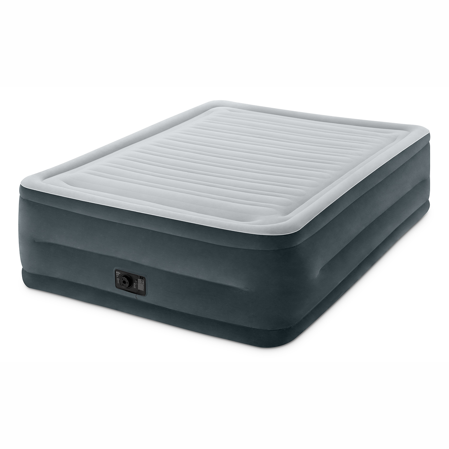 "Intex Queen 22"" DuraBeam High Rise Airbed Mattress with Built-in Pump"