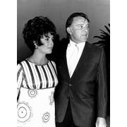 Elizabeth Taylor and Richard Burton Photo Print by Globe Photos LLC