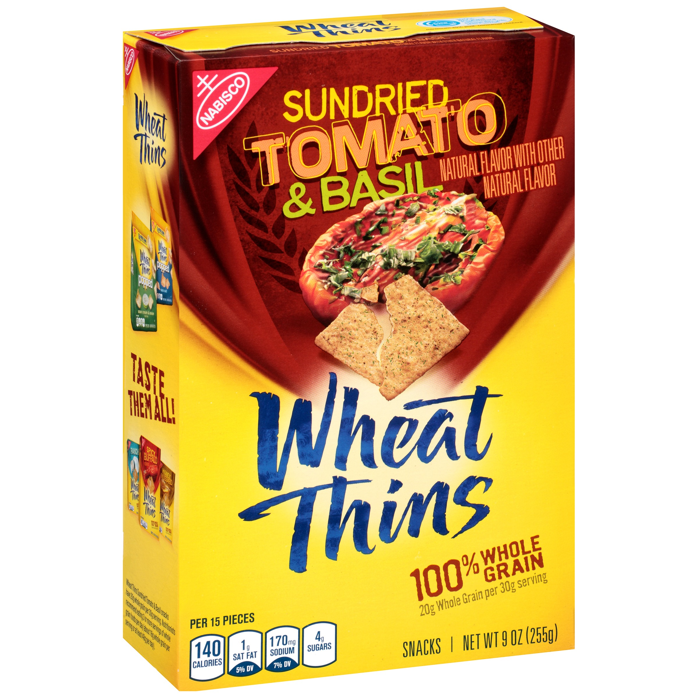 (2 Pack) Nabisco Wheat Thins Sundried Tomato & Basil Snacks 9 oz. Box