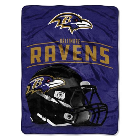 "NFL Baltimore Ravens ""Franchise"" Micro Raschel Throw, 46"" X - Baltimore Ravens Room Decor"