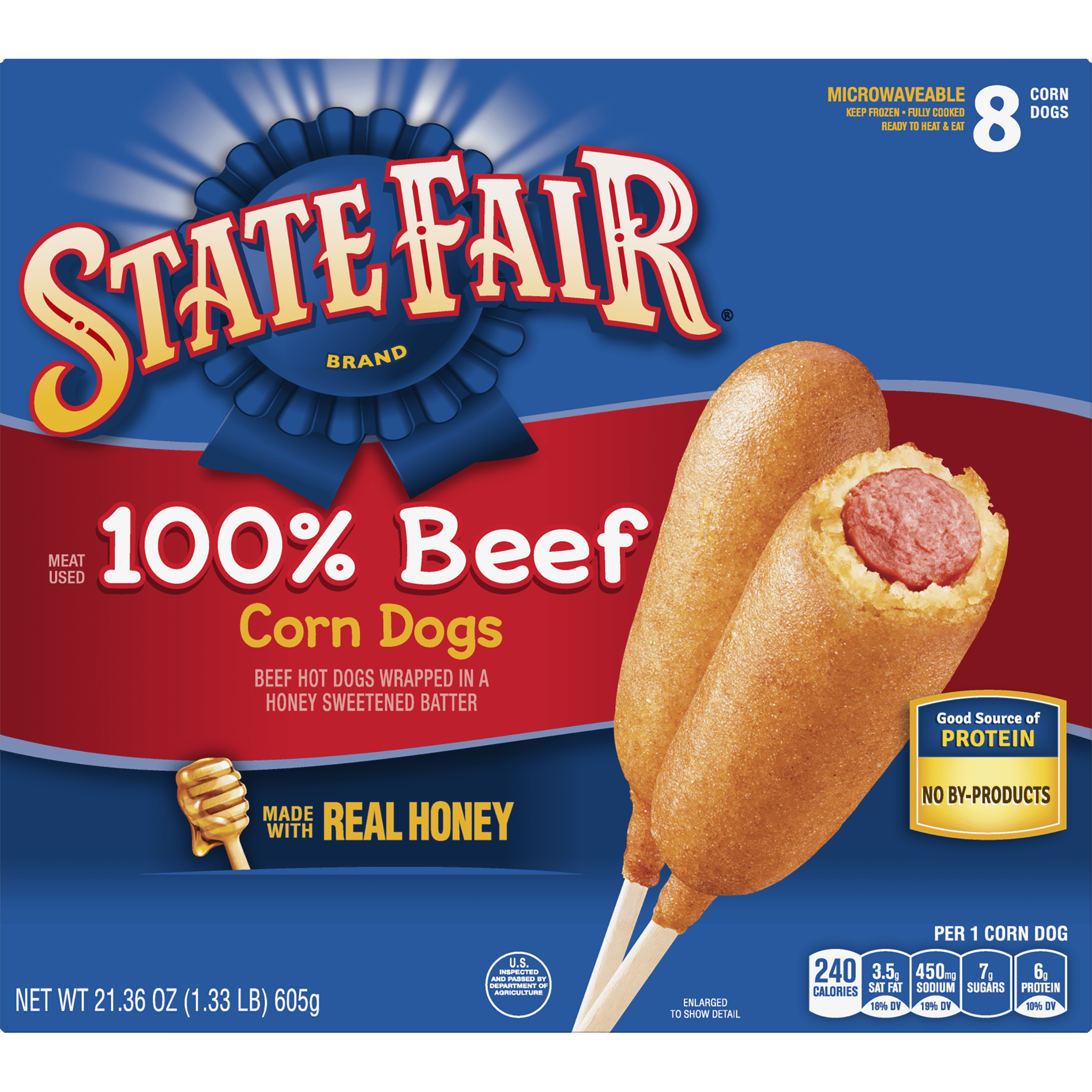 State Fair® 100% Beef Corn Dogs, 8