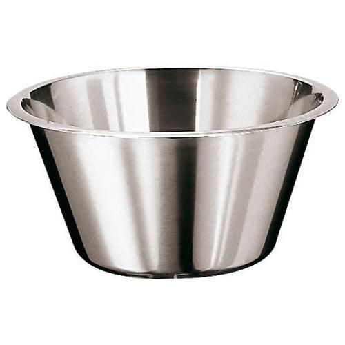 "Paderno World Cuisine Mixing Bowl, S/S, Flat, DIA 8 5/8"" x H 4 3/4"", 3 1/4QT"