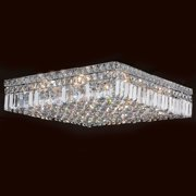 "Worldwide Lighting W33519c20 Cascade 12 Light 20"" Wide Flush Mount Ceiling Fixtu - Chrome"