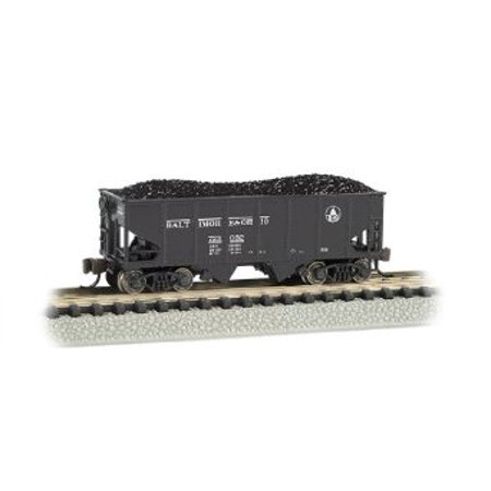Bachmann Industries USRA 55-Ton 2-Bay Hopper B and O Train Car, N Scale Multi-Colored