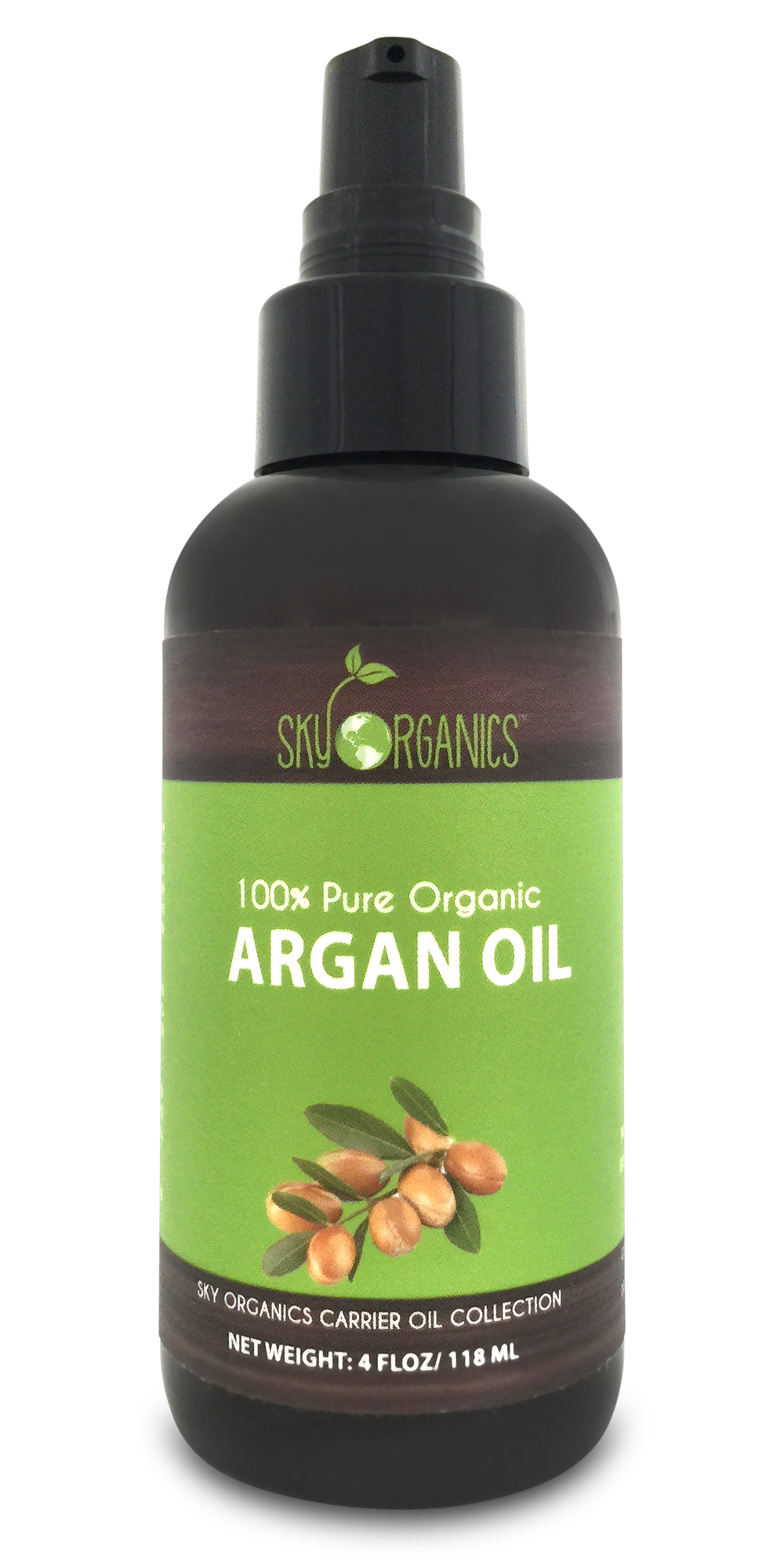 Sky Organics Best Moroccan Argan Oil: Unrefined, 100% Pure from Morocco (2 Pack) Retinol Anti-Aging Starter Kit, 7.7 Ounce (Pack of 3)