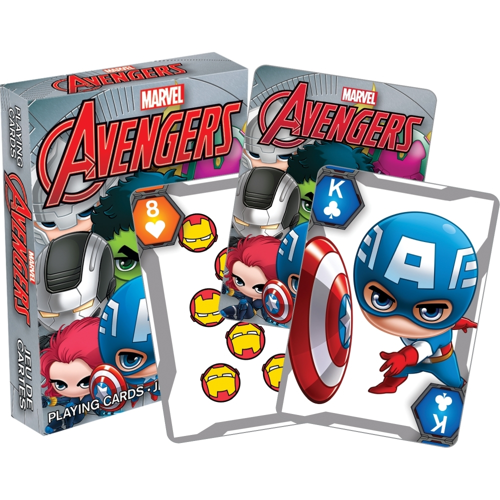 Marvel Chibi Playing Cards,  Cartoons | Comics by NMR Calendars