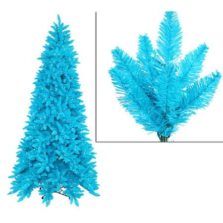 9' Pre-Lit Slim Sky Blue Ashley Spruce Christmas Tree - Clear & Blue (Ashley Spice)