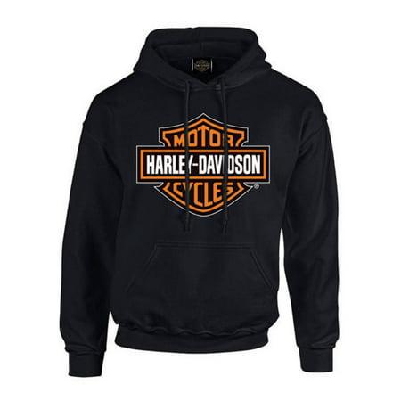 Harley-Davidson Men's Bar & Shield Pullover Fleece Hooded Sweatshirt, Black, Harley Davidson