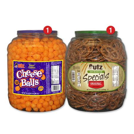 Halloween Snacks Using Pretzels (Utz Snack Barrel Variety Pack, Cheeseballs & Sourdough Special)