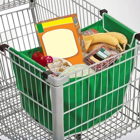 Reusable Clip-to-Cart Grocery Bag - 2 Pack