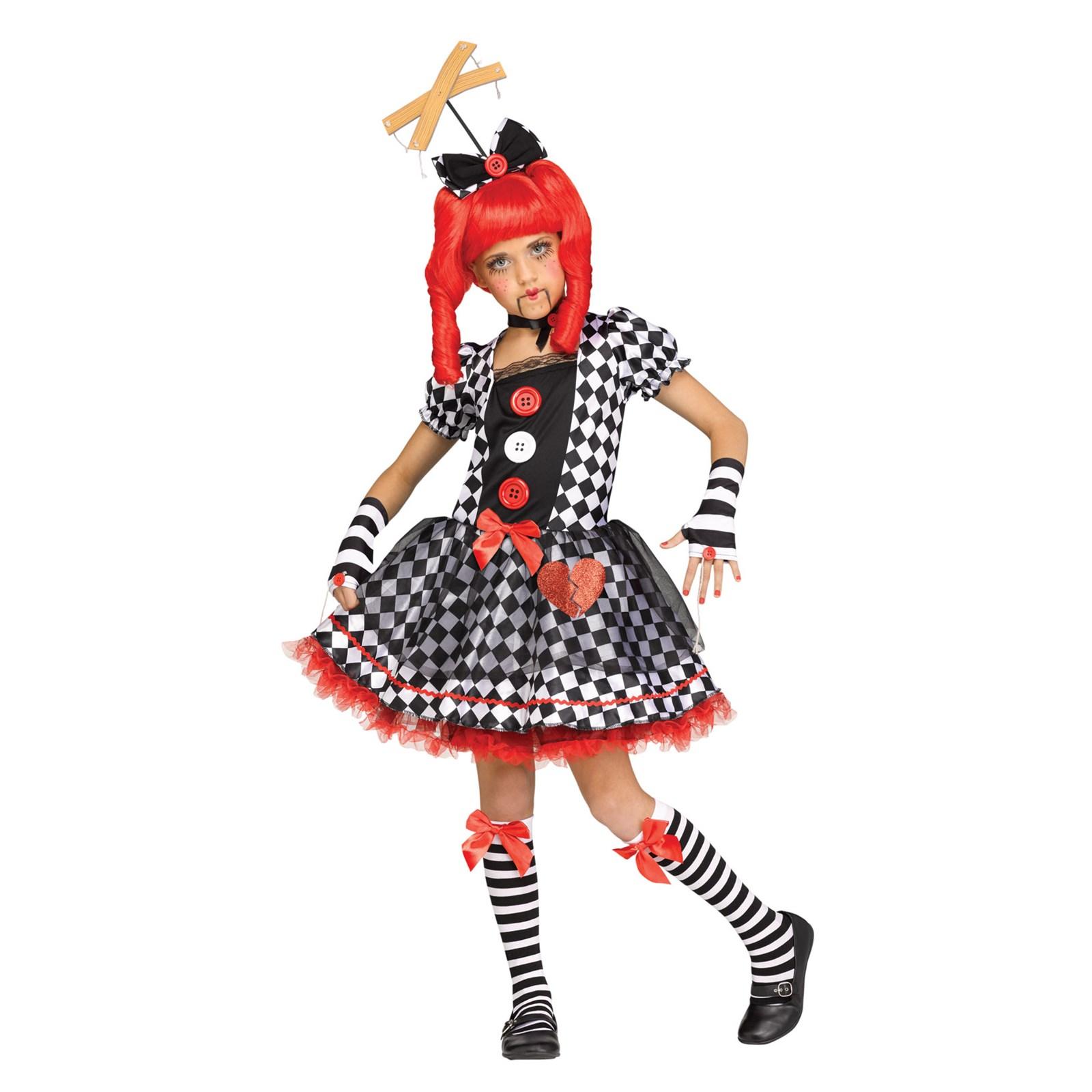 Marionette Doll Girl's Costume