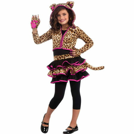 Leopard Hoodie Child Halloween Costume - Black Leotard Halloween Costumes