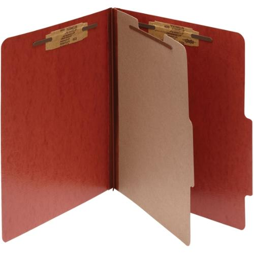 "Acco PRESSTEX 4-Part Classification Folder with PermClip Fasteners - 1"" Folder Capacity - Letter - 8.50"" x 11"" Sheet Siz"