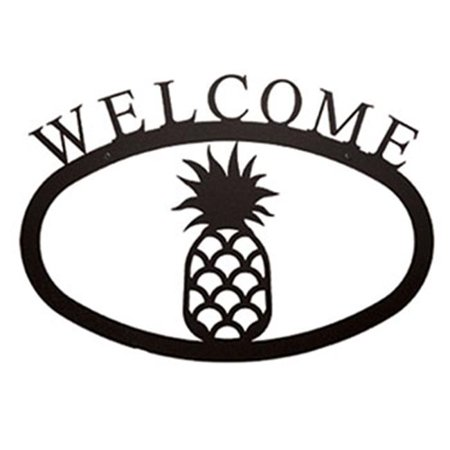 Village Wrought Iron WEL-44-S Small Welcome Sign-Plaque - Pineapple Pineapple Welcome Address Plaque