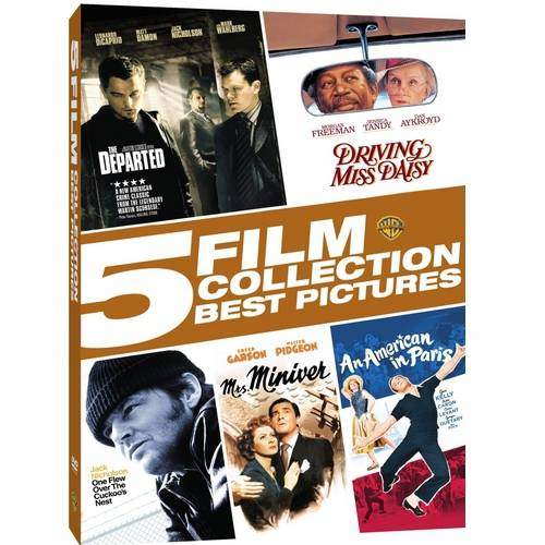 5 Film Collection: Best Pictures - The Departed / Driving Miss Daisy / One Flew Over The Cuckoo's Nest / Mrs. Miniver / An American in Paris WARD516279D