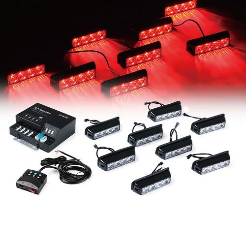 Xprite Red G1 Series 8 LED Hide A Way Emergency Strobe Li...
