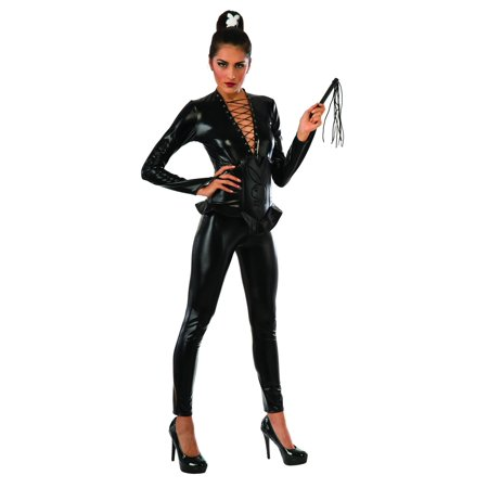 Tight End Costume (Rubies Playboy Wicked Ways Tight Catsuit 4pc Women Costume,)