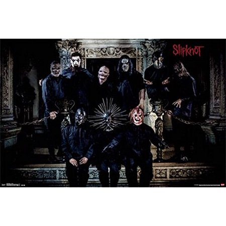 Slipknot Poster Amazing Group Shot With Masks New (Real Moving Rorschach Mask Amazing For Sale)