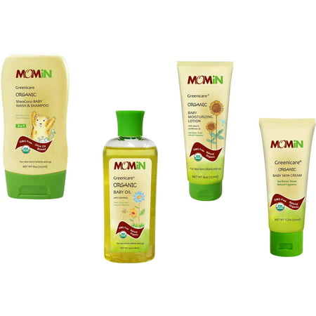 Momin Greenicare Bundle Organic Baby, 4 pc