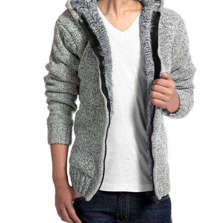 Long Sleeves Full Zip Inner Fleece Coat For Men
