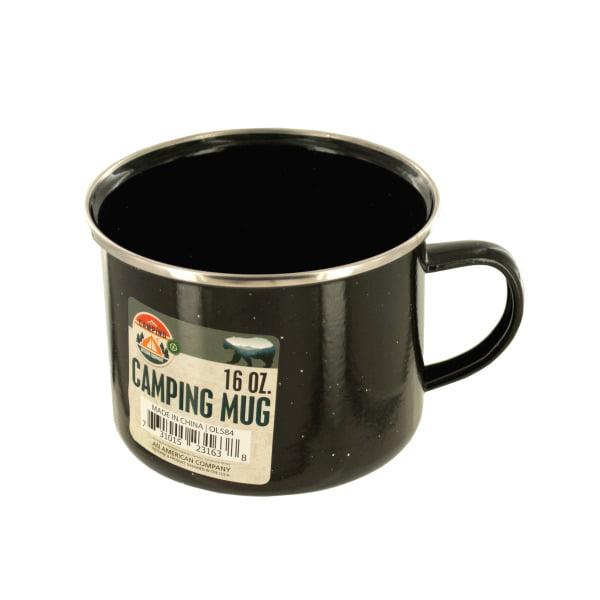 Enamel Camping Mug (Pack Of 12) by Bulk Buys