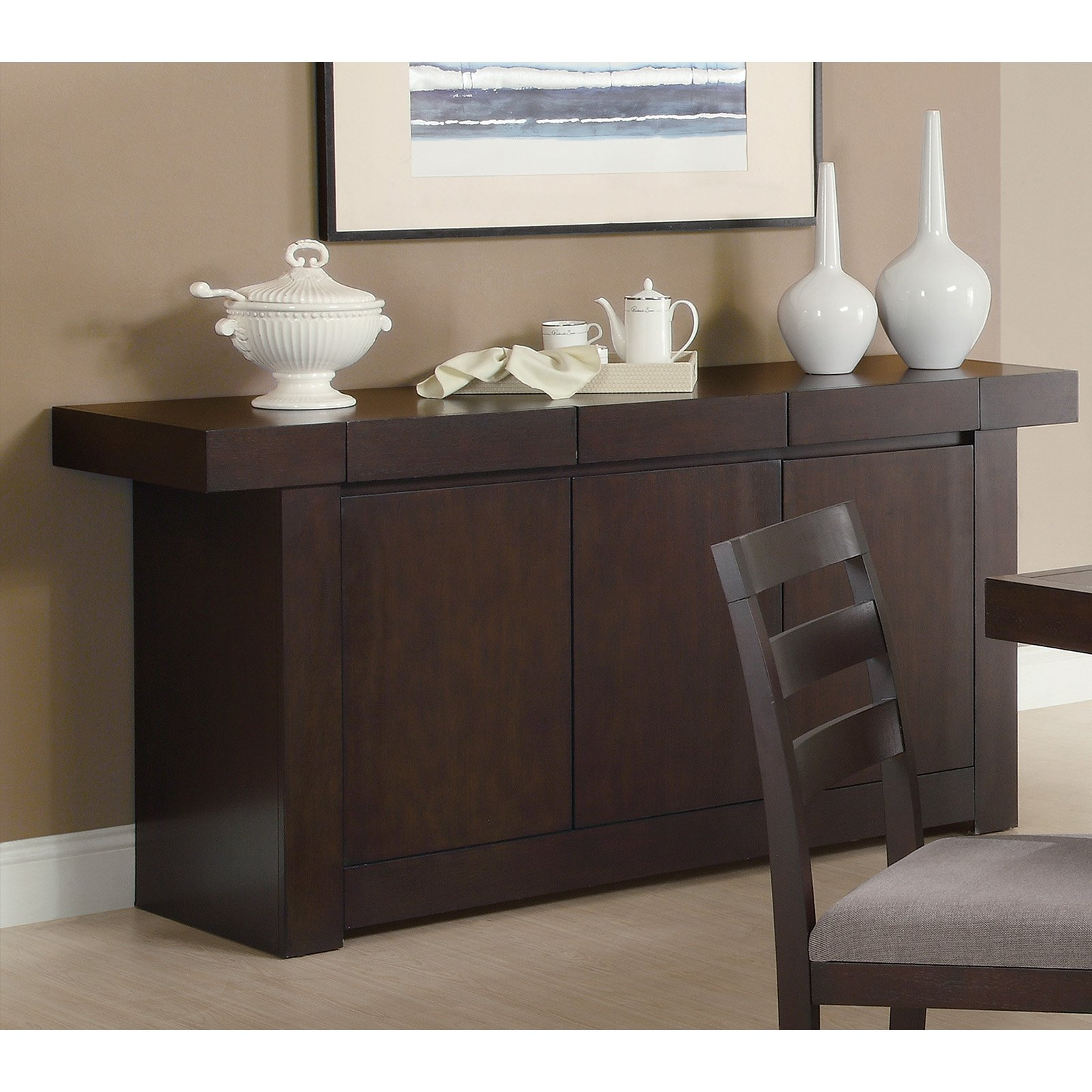 coaster furniture danby dining room server walmart