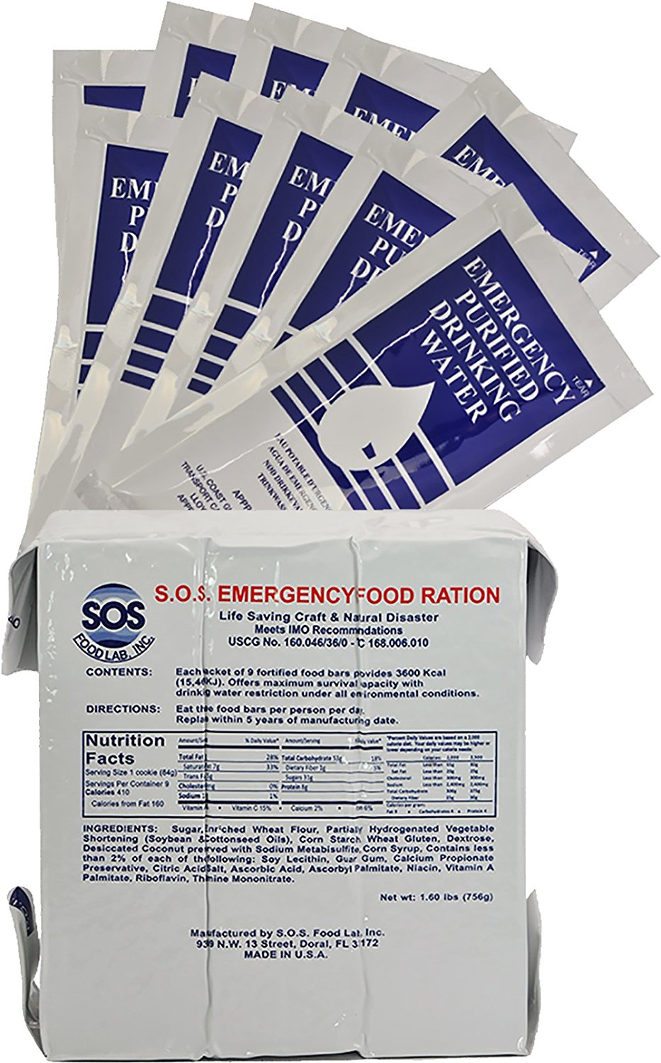 Tactical 365 Operation First Response Food and Water Rations Packs - 3 Day Pack