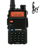 BAOFENG -5R Transceivr Two Way Dual Display VHF 136-174 UHF 400-520mHZ 5W Two Way Ham Rechargeable Portable Ham VOX with Earpiece