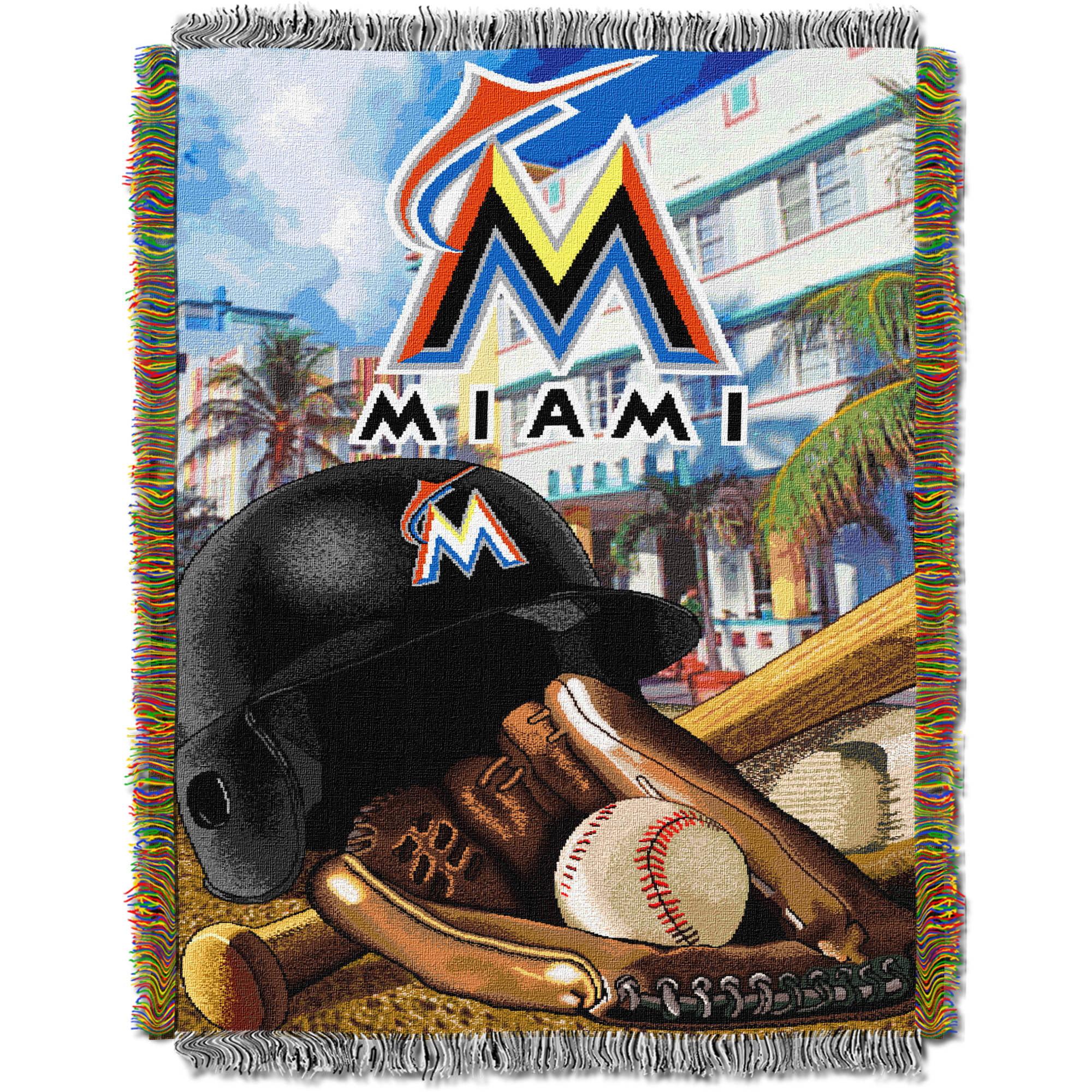"MLB 48"" x 60"" Home Field Advantage Series Tapestry Throw, Marlins"