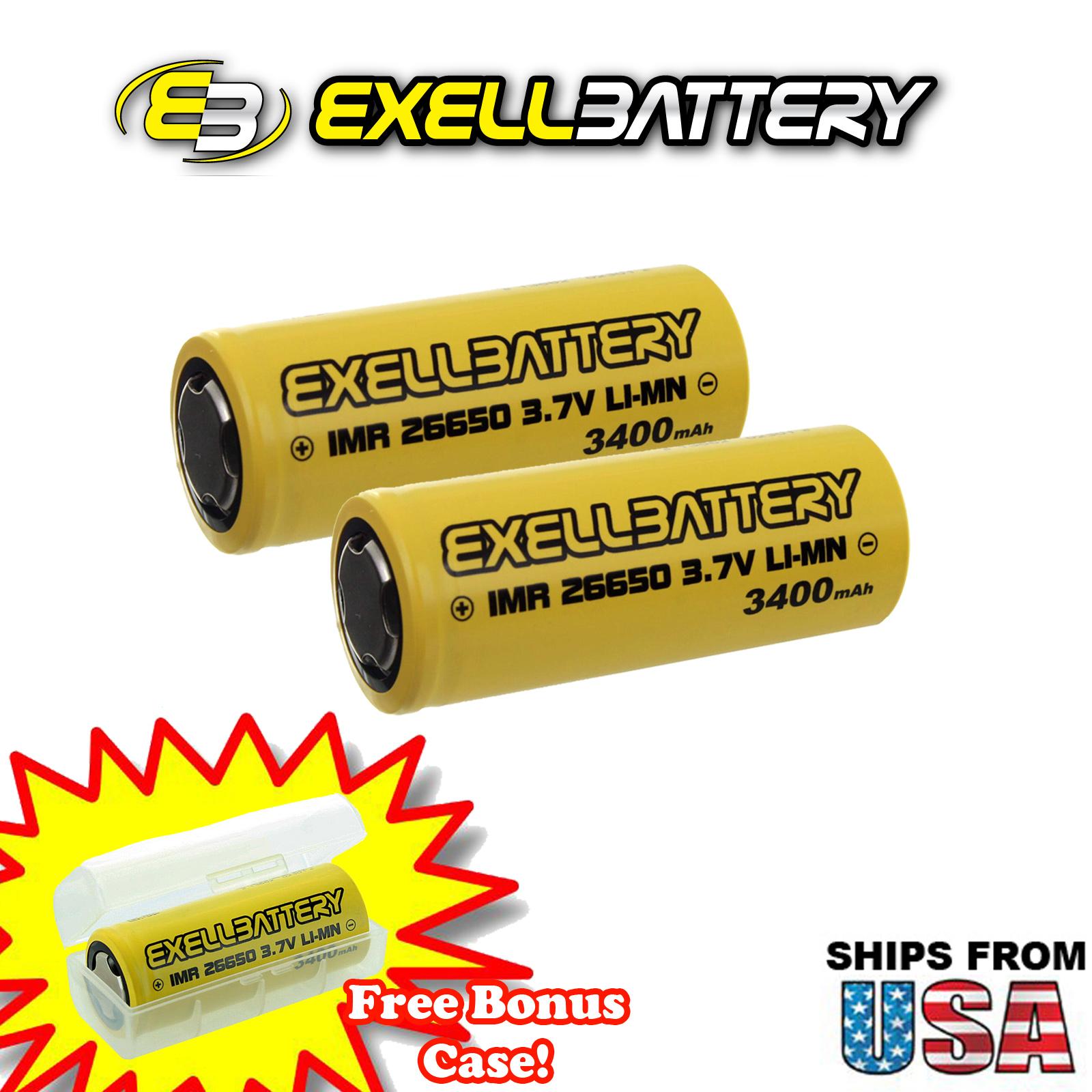 2pc 3.7V 26650 3400mAh HD 64A 19C Battery Fit Wismec Sigelei MODS Flawless Presa