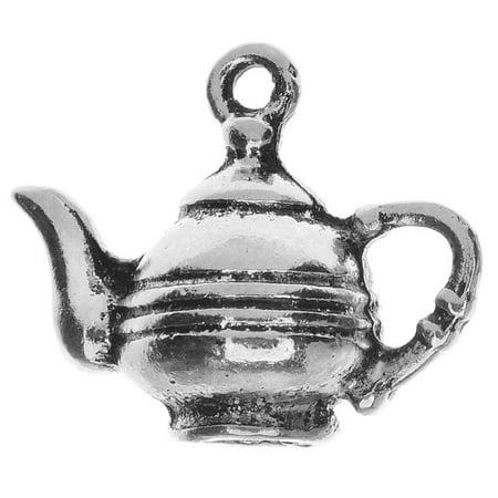Lead-Free Pewter, Teapot Charm 17x20mm, 2 Pieces, Antiqued Silver Antique Silver Tea Pot Charms