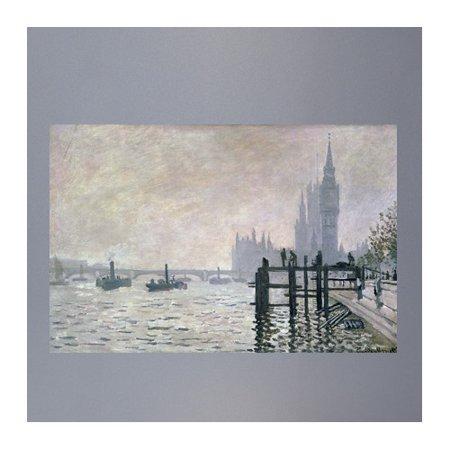 Wallhogs Monet The Thames Below Westminster 1871 Poster Wall Mural