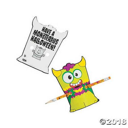 Halloween Monster Giveaway Pencils