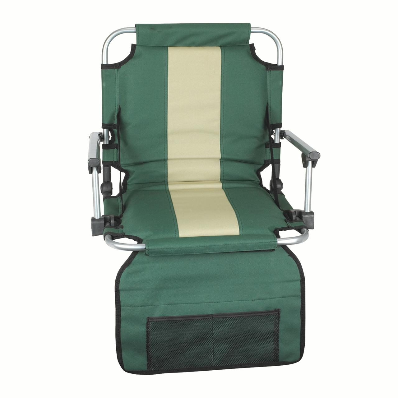 Stansport Stadium Seat with Arms - Green/Tan Stripe