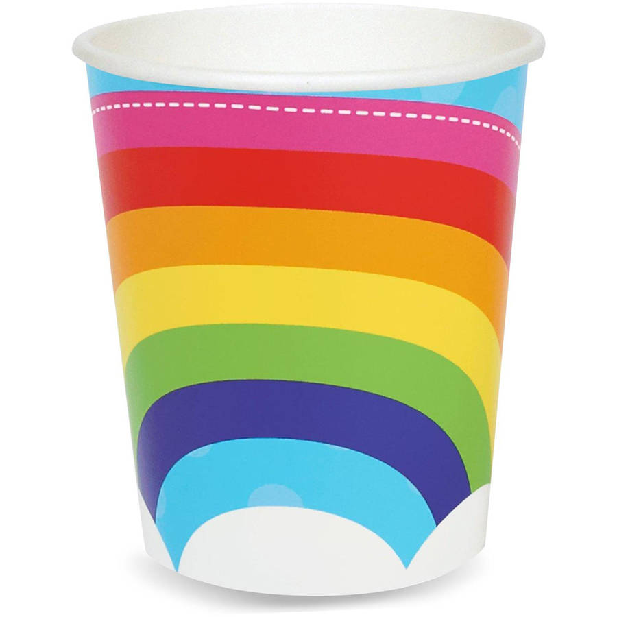Rainbow Wishes 9 oz Paper Cups, 8pk